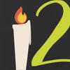 Kerze mit Ziffer 2