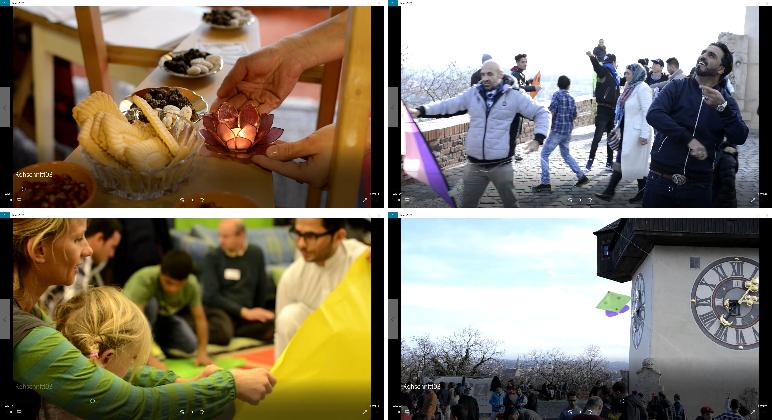 Die Bilder zeigen Eindrücke vom Drachenfest.