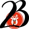 Ziffer 23 mit rotnasigem Rentierkopf