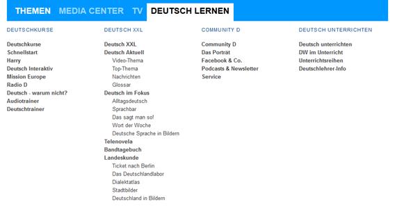 Screenshot Deutsch Lernen