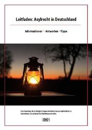 """Das Bild zeigt das Cover des Leitfadens """"Asylrecht in Deutschland""""."""