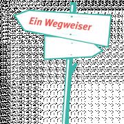 Das Bild zeigt einen gezeichneten Wegweiser.