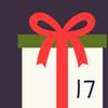 Geschenkpaket mit der Ziffer 17