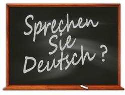 Tafel mit Aufschrift Sprechen Sie Deutsch?
