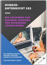 Das Bild zeigt das Cover des E-Books Hybridunterricht