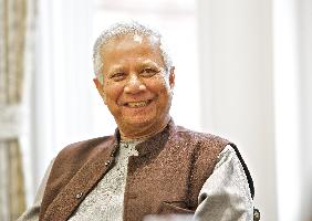 Das Bild  zeigt Muhammad Yunus.