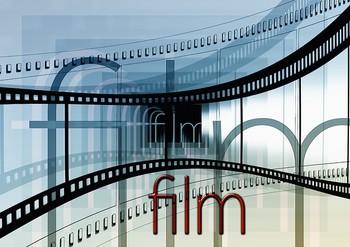 Das Bild zeigt eine grafische Darstellung einer Filmrolle.