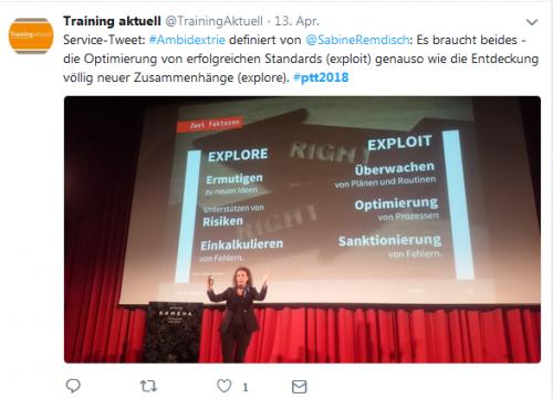 Prof. Sabine Remdisch beim Vortrag auf den Petersberger Trainertagen 2018