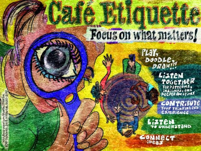 Bild mit der Etiquette des World Cafés