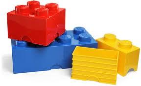 Bunte Bausteine aus Plastik