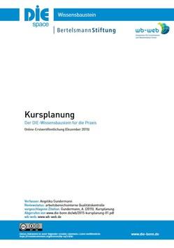 Cover des Wissensbausteins Kursplanung