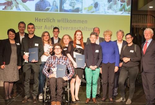 Preisträger und Laudatoren des Preises Vorbild der Weiterbildung 2018