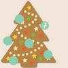 Weihnachtsbaum aus Lebkuchen mit Ziffer 7