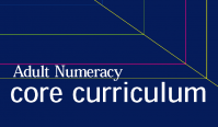 Cover Adult Numeracy core curriculum