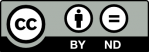 Symbol CC BY ND Lizenz
