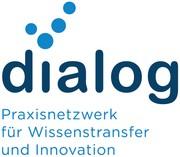 Das Bild zeigt das Logo des Dialog-Praxisnetzwerkes für Wissenstransfer und Innovation.