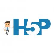 Das Bild zeigt das Logo von H5P.