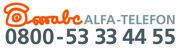 Das Logo Alfa-Telefon