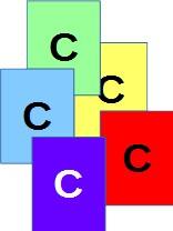 6 Vierecke mit Beschriftung C