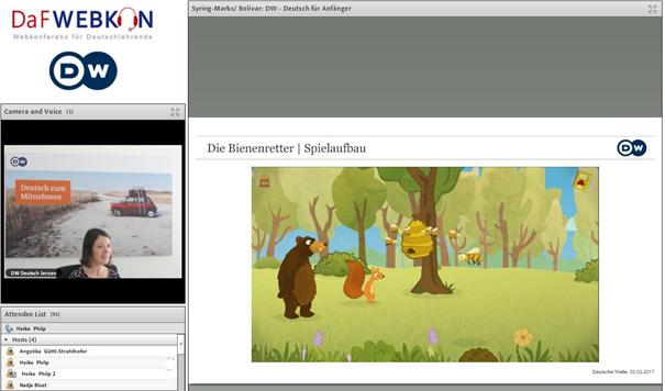 "Screenshot mit der Lernapp ""Bienenretter"""