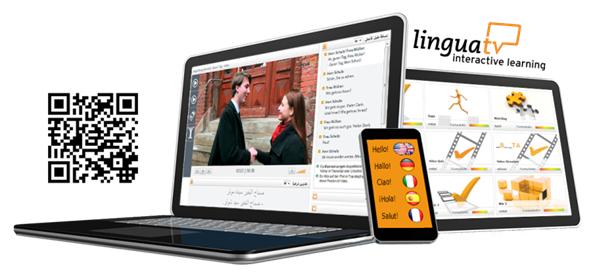 Das Bild zeigt LinguaTV mit unterschiedlichen Zugangsmöglichkeiten.