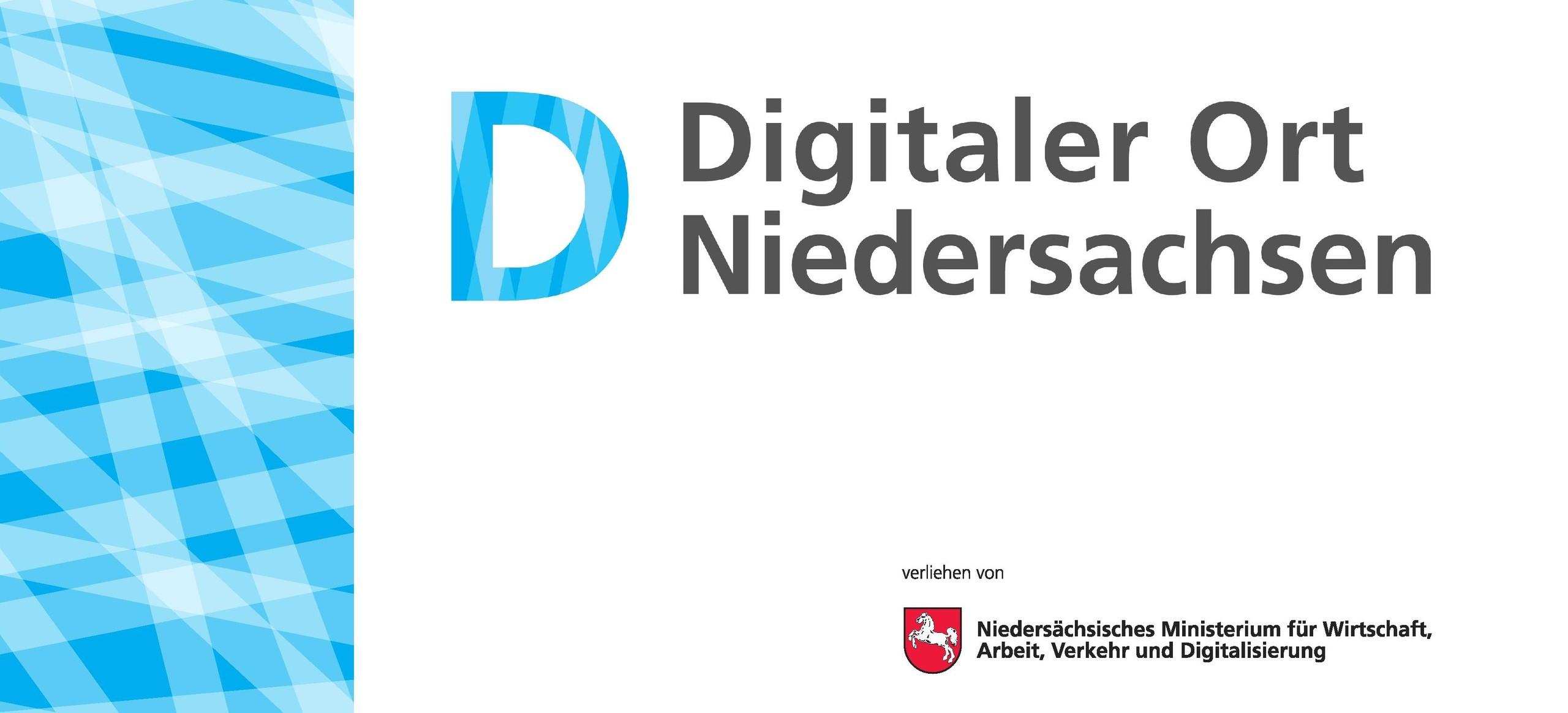 Das Bild zeigt das Logo Digitaler Ort Niedersachsen.