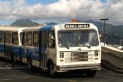 Bus mit Aufschrift Wiki-Wiki