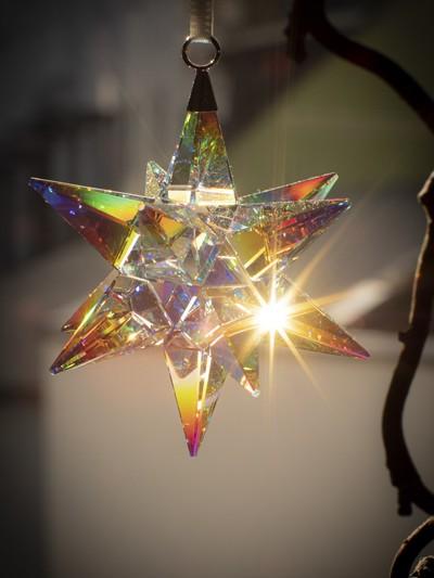 Kristallstern mit Sonnenlich
