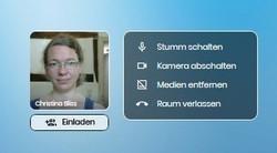 Das Bild zeigt die Audio- und Videoeinstellungen von Trember.me,