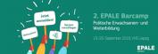 Das Bild zeigt das Logo des 2. EPALE Barcamps.