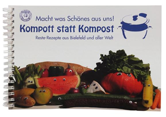 """Das Bild zeigt das Buchcover """"Kompott statt Kompost""""."""