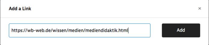 Screenshot Instapaper Link hizufügen