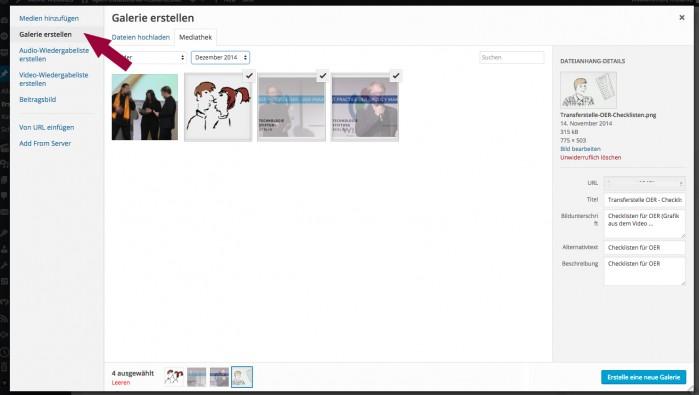 Galerie erstellen in Wordpress