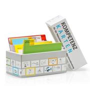 Das Bild zeigt die Box mit den Kompetenzkarten.