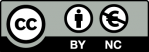 Symbol CC BY NC Lizenz