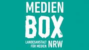 Das Bild zeigt das Logo der Medienbox NRW.