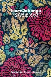 """Das Bild zeigt das Buchcover der Publikation """"Learn2change - Die Welt durch Bildung verändern."""