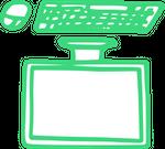 Das Bild zeigt einen gezeichneten Computer, der auf dem Kopf steht.