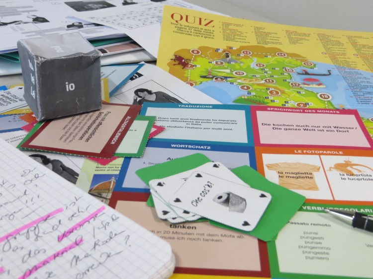 Spielmaterial, Karten für den Sprachunterricht