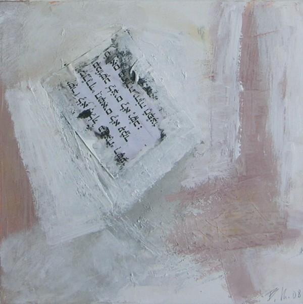 """Das Gemälde """"von den Hieroglyphen zum Internet"""" von Barbara Kroke"""