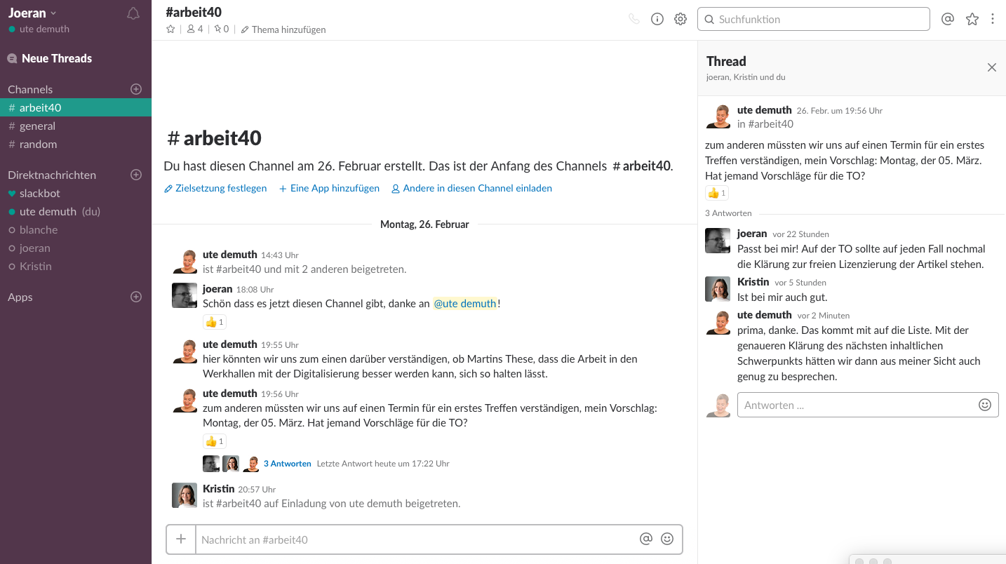Screenshot Slack