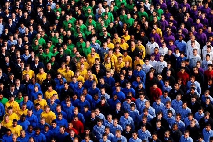 Viele Menschen in einer Gruppe