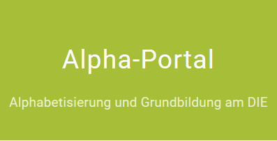 """Das Bild zeigt den Schriftzug """"Alpha-Portal"""""""