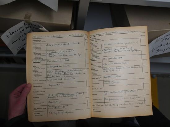 Altes Klassenbuch aus Herne