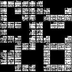 Das Bild zeigt ein blanko Kreuzworträtsel.
