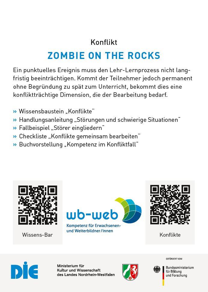 """Das Bild zeigt den Rezeptvorschlag zu dem Thema """"Konflikte"""", Zombie on the rocks."""