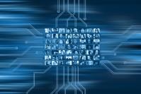 In dieser Grafik werden Bilder von verschiedenen Personen zu einem Netzwerk verbunden.