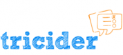 Schriftzug Tricider und zwei Comic-Sprechblasen mit Linien und Checkboxen