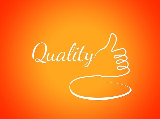 Schriftzug Quality