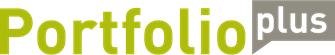 Das Bild zeigt das Logo Portfolio+.